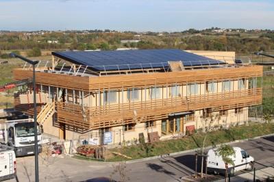 Vue toiture photovoltaïque